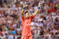 Real Madrid's Keylor Navas celebrates goal during La Liga match. August 20,2017. (ALTERPHOTOS/Acero)<br /> Deportivo La Coruna - Real Madrid <br /> Liga Campionato Spagna 2017/2018<br /> Foto Alterphotos / Insidefoto <br /> ITALY ONLY