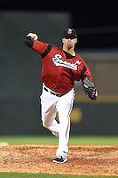 Nashville Sounds pitcher Dustin Molleken (31) delivers a warmup pitch during the second game of a double header against the Omaha Storm Chasers on May 21, 2014 at Herschel Greer Stadium in Nashville, Tennessee.  Nashville defeated Omaha 13-4.  (Mike Janes/Four Seam Images)
