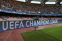 Striscione della Champions, banner<br /> Napoli 16-08-2017 Stadio San Paolo <br /> Napoli - Nice <br /> Uefa Champions League 2017/2018 Play Off <br /> Foto Cesare Purini Insidefoto