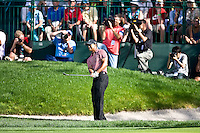March 29, 2009, Arnold Palmer Invitation.  Tiger Woods hits from a green side bunker on the 4th hole during final round play  at Bay Hill Golf Club in Orlando, Florida...