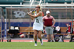 RICHMOND, VA - APRIL 27: Notre Dame's Grace Miller. The Notre Dame Fighting Irish played the Boston College Eagles on April 27, 2017, at Sports Backers Stadium in Richmond, VA in an ACC Women's Lacrosse Tournament quarterfinal match. Boston College won the game 17-14.