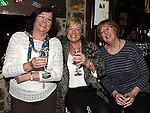 Ronnie Payne, Rosemary Murphy and Linda Keightley at Eddie Thornton's 75th birthday in The Cottage Inn Laytown. Photo:Colin Bell/pressphotos.ie