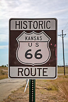 Historic Kansas US route 66 as you enter Kansas.