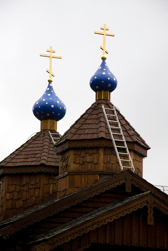 Eight Russian Orthodox monks arrived at Kodiak Island, Alaska, then part of Russian America, in 1794. The monks established a mission in Alaska. The church continues to have an active presence in the Kodiak community.