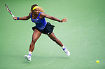 Serena Williams (USA) during the final against Ana Ivanovic (SRB) at the Western & Southern Open in Mason, OH on August 17, 2014.