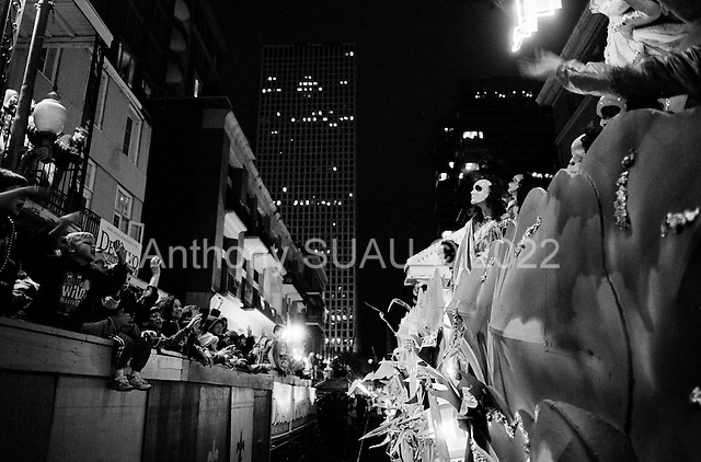New Orleans, Louisiana.USA.February 24, 2006..Parade in central New Orleans.