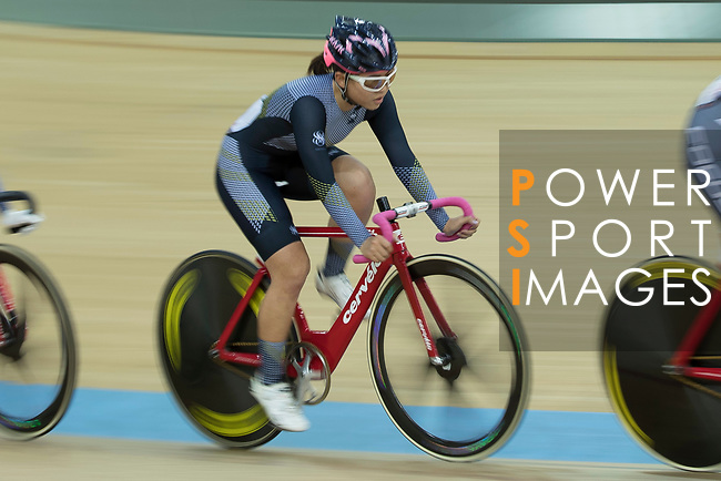 Leung Bo Yee of the Ligne 8- CSR  competes in the Women Elite - Pointe Race 20km Final category during the  Hong Kong Track Cycling National Championships 2017 at the Hong Kong Velodrome on 18 March 2017 in Hong Kong, China. Photo by Chris Wong / Power Sport Images