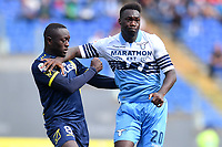 Assane Diousse of AC Chievo Verona and Felipe Caicedo of Lazio argue during the Serie A 2018/2019 football match between SS Lazio and AC Chievo Verona at stadio Olimpico, Roma, April, 20, 2019 <br /> Photo Antonietta Baldassarre / Insidefoto