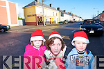 SPIRIT OF CHRISTMAS: Jade, Margaret and Dara Fitzgerald getting into the Christmas spirit while shopping in Rathmore on Friday.   Copyright Kerry's Eye 2008