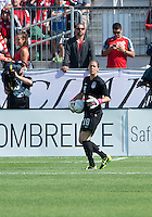 02 June 2013: U.S Women's National Soccer Team goalkeeper Nicole Barnhart #18 in action during an International Friendly soccer match between the U.S. Women's National Soccer Team and the Canadian Women's National Soccer Team at BMO Field in Toronto, Ontario.<br /> The U.S. Women's National Team Won 3-0.