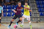 League LNFS 2018/2019 - Game 29.<br /> FC Barcelona Lassa vs Viña Albali Valdepeñas: 5-1.<br /> Ferrao vs Victor Montes.