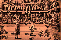 "London: Historical--""The celebrated dog Billy killing 100 rats at the Westminster Pit"", 1822. Hibbert, LONDON.  Reference only."