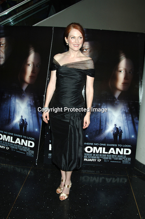 "Julianne Moore ..at The World Premiere of ""Freedomland"" on February 13, 2006 at The Loews Lincoln Square Theatre. ..Photo by Robin Platzer, Twin Images"