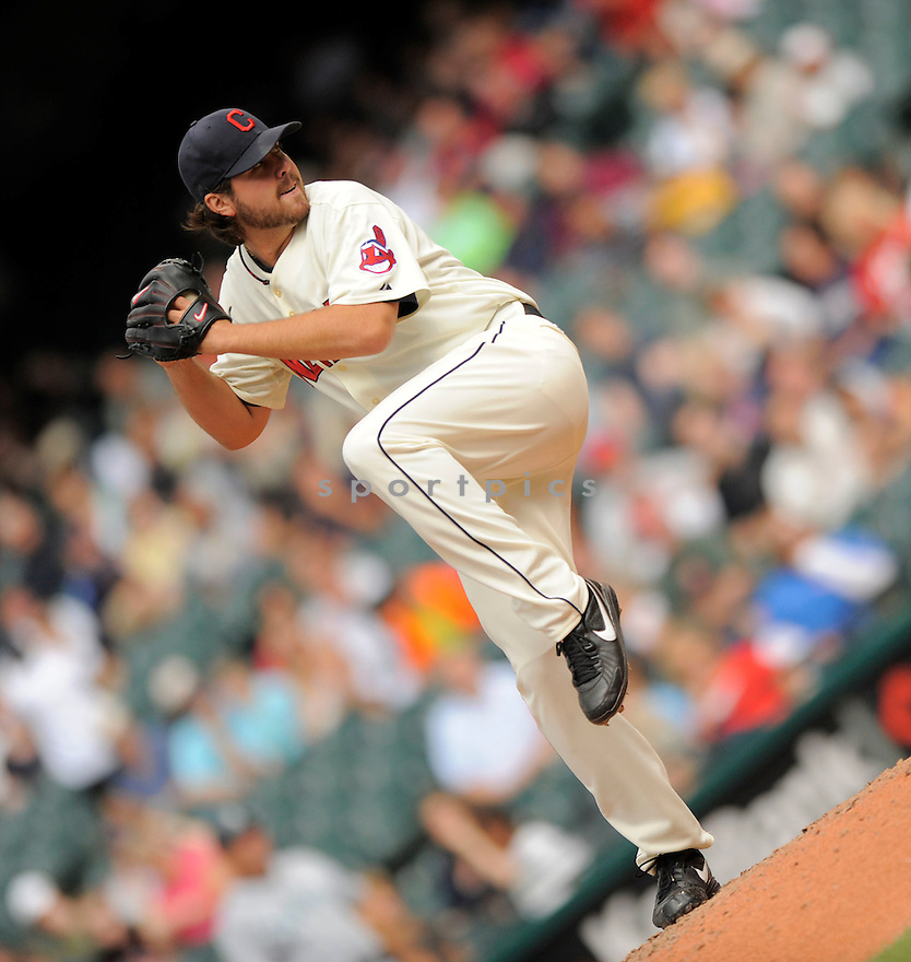 CHRIS PEREZ, of the Cleveland Indians, in action during the Indians game against the Seattle Mariners on August 23, 2009 in Cleveland, OH. The Indians beat the Mariners 6-1...