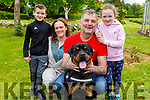 The Hogan family from Tralee enjoying the Tralee Town Park on Sunday.<br /> L to r: Donagh, Michelle, Michael and Ella Hogan and Milo the dog