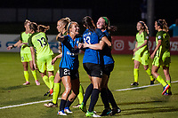 Kansas City, MO - Saturday June 17, 2017:  Brittany Taylor, Brittany Ratcliffe, Maegan Kelly during a regular season National Women's Soccer League (NWSL) match between FC Kansas City and the Seattle Reign FC at Children's Mercy Victory Field.