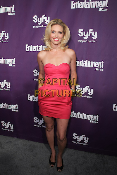 ALAINA HUFFMAN.At the annual Entertainment Weekly and Syfy Party in conjunction with Comic-Con 2010 at the Hotel Solamar, San Diego, CA, USA,.July 24th 2010..full length strapless pink dress hands in pockets  .CAP/CEL. ©CelPh/Capital Pictures