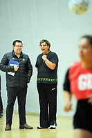 The Minister of Sport, Grant Robertson and P.I.C coach Waimarama Taumaunu. Value Of Sport Launch at ASB Sports Centre in Wellington, New Zealand on Saturday, 17 March 2018. Photo: Dave Lintott / lintottphoto.co.nz