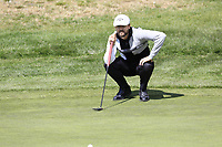 Rikard Karlberg (SWE) on the 9th green during Thursday's Round 1 of the 2017 Omega European Masters held at Golf Club Crans-Sur-Sierre, Crans Montana, Switzerland. 7th September 2017.<br /> Picture: Eoin Clarke | Golffile<br /> <br /> <br /> All photos usage must carry mandatory copyright credit (&copy; Golffile | Eoin Clarke)
