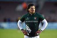 Guy Thompson of Leicester Tigers looks on during the pre-match warm-up. Gallagher Premiership match, between Harlequins and Leicester Tigers on May 3, 2019 at the Twickenham Stoop in London, England. Photo by: Patrick Khachfe / JMP