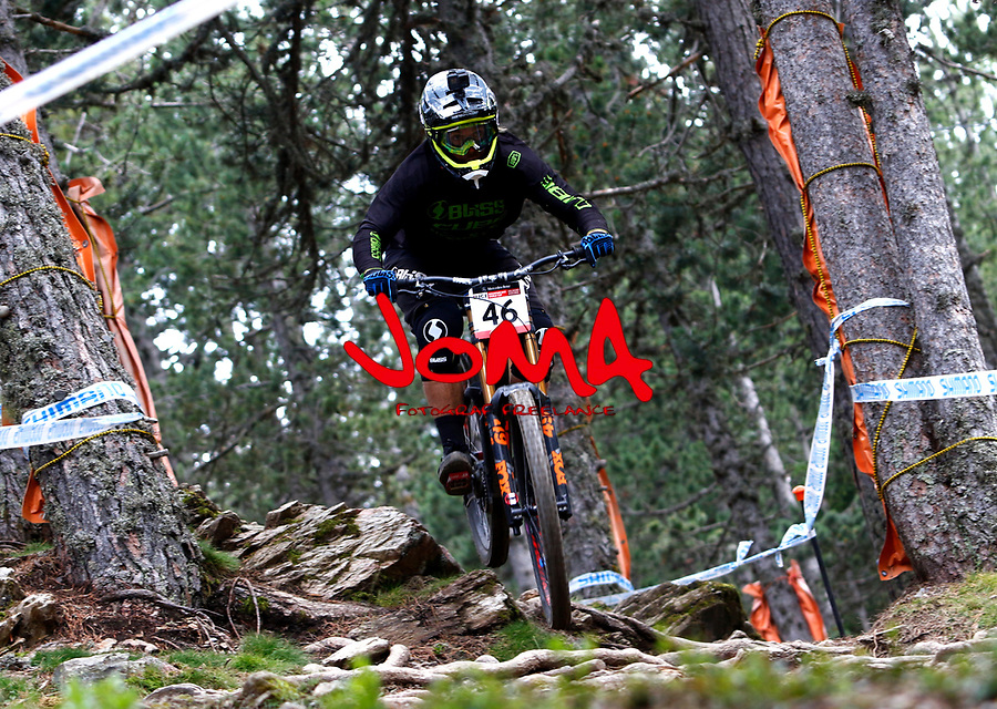 Matthew Walker (NZL)Downhill training sesion, UCI, Moutain Bike World Cup , Vallnord Andorra. 12/07/2018