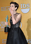 Anne Hathaway in the press room at  the 19th Screen Actors Guild Awards held at the Shrine Auditorium in Los Angeles, CA. January 27, 2013.