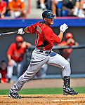 7 March 2011: Houston Astros' outfielder J.D. Martinez in action during a Spring Training game against the Washington Nationals at Space Coast Stadium in Viera, Florida. The Nationals defeated the Astros 14-9 in Grapefruit League action. Mandatory Credit: Ed Wolfstein Photo