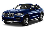 2018 BMW X4 x Line 5 Door SUV angular front stock photos of front three quarter view