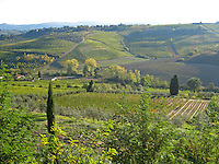 The view from our hilltop farm/hotel 'Poderi Archangelo', between San Gimignano & Certaldo.