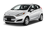 2017 Ford Fiesta SE 5 Door Hatchback Angular Front stock photos of front three quarter view