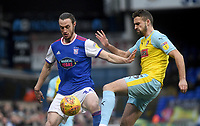Ipswich Town's Will Keane battles with  Rotherham United's Clark Robertson<br /> <br /> Photographer Hannah Fountain/CameraSport<br /> <br /> The EFL Sky Bet Championship - Ipswich Town v Rotherham United - Saturday 12th January 2019 - Portman Road - Ipswich<br /> <br /> World Copyright &copy; 2019 CameraSport. All rights reserved. 43 Linden Ave. Countesthorpe. Leicester. England. LE8 5PG - Tel: +44 (0) 116 277 4147 - admin@camerasport.com - www.camerasport.com