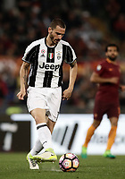 Calcio, Serie A: Roma, stadio Olimpico, 14 maggio 2017.<br /> Juventus' Leonardo Bonucci in action during the Italian Serie A football match between AS Roma and Juventus at Rome's Olympic stadium, May 14, 2017.<br /> UPDATE IMAGES PRESS/Isabella Bonotto