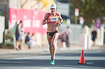 Wales Elinor Kirk in action during the Woman's Marathon<br /> <br /> *This image must be credited to Ian Cook Sportingwales and can only be used in conjunction with this event only*<br /> <br /> 21st Commonwealth Games - Marathon - Day 11 - 11\04\2018 - Gold Coast City - Australia