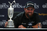 Final Media call; /{prsn}/ is the Champion Golfer of the Year during the Final Round of the 148th Open Championship, Royal Portrush Golf Club, Portrush, Antrim, Northern Ireland. 21/07/2019. Picture David Lloyd / Golffile.ie<br /> <br /> All photo usage must carry mandatory copyright credit (© Golffile | David Lloyd)
