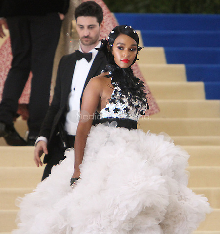 NEW YORK, NY May 01, 2017 Janelle Monae attend  The Metropolitan Museum of Art Costume Institute Benefit Gala for Rei Kawakubo Comme des Garcons at  Metropolitan Museum of Art  in New York May 01,  2017. Credit:RW/MediaPunch