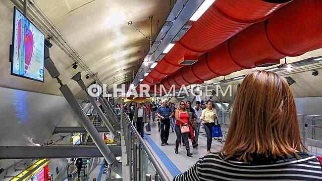 Estaçao Consolaçao do Metro. Sao Paulo. 2017. Foto de Juca Martins.