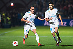 Real Madrid Lucas Vazquez and Achraf Hakimi during Copa del Rey match between Fuenlabrada and Real Madrid at Fernando Torres Stadium in Madrid, Spain. October 26, 2017. (ALTERPHOTOS/Borja B.Hojas)