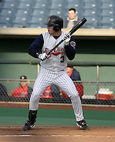 May 5, 2004:  /ss/ Russ Adams (3) of the Syracuse Sky Chiefs, Class-AAA International League affiliate of the Toronto Blue Jays, during a game at P&C Park in Syracuse, NY.  Photo by:  Mike Janes/Four Seam Images