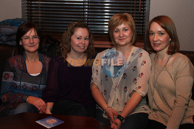 Enjoying a night out in O Casey's before Christmas were Pauline Everitt, mMairead Kierans, Vivienne Brodigan and Gillian Bailey..Picture: Shane Maguire / www.newsfile.ie.