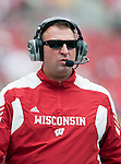 Wisconsin Badgers head coach Bret Bielema looks on during an NCAA college football game against the San Jose State Spartans on September 11, 2010 at Camp Randall Stadium in Madison, Wisconsin. The Badgers beat San Jose State 27-14. (Photo by David Stluka)