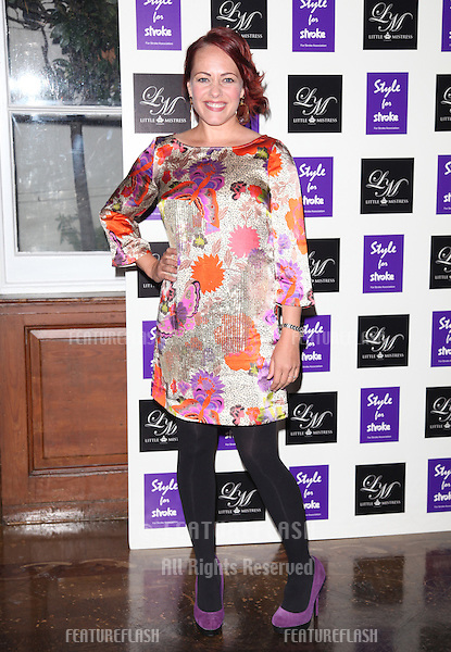 Sara Cawood arriving for the Style for Stroke Party, 5 Cavendish Square, London. 02/10/2012 Picture by: Alexandra Glen / Featureflash