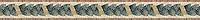"""4"""" Mini Milano border, a hand-cut stone mosaic, shown in polishedBotticino, Verde Alpi, Verde Luna, Spring Green, Rosa Verona, Giallo Reale,and Breccia Oniciata."""