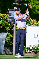 Kyle Reifers (USA) watches his tee shot on 15 during the round 1 of the Dean &amp; Deluca Invitational, at The Colonial, Ft. Worth, Texas, USA. 5/25/2017.<br /> Picture: Golffile | Ken Murray<br /> <br /> <br /> All photo usage must carry mandatory copyright credit (&copy; Golffile | Ken Murray)