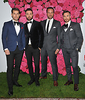 The Overtones (Timmy Matley, Mike Crawshaw, Darren Everest, Mark Franks &amp; Lachie Chapman) at the Remembering Audrey Hepburn charity gala celebating the life of the late actress, Royal Lancaster Hotel, Lancaster Terrace, London, England, UK, on Saturday 06 October 2018.<br /> CAP/CAN<br /> &copy;CAN/Capital Pictures
