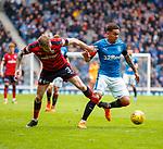 07.04.2018: Rangers v Dundee:<br /> Kevin Holt and James Tavernier