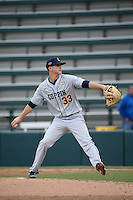 Anthony Martinez #33 of the Coppin State Eagles pitches against the Southern California Trojans at Dedeaux Field on February 18, 2017 in Los Angeles, California. Southern California defeated Coppin State, 22-2. (Larry Goren/Four Seam Images)
