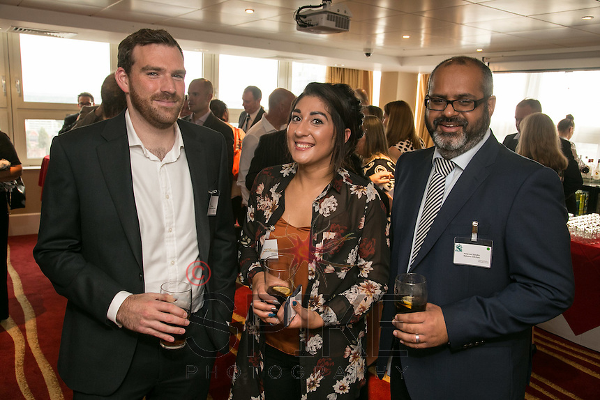 From left: Will Evans of Performance Networks, Hannah Floyd of Blueprint Interiors and Harpreet Sandhu of Nelsons Solicitors