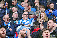 Huddersfield Town fans cheer their side on in the first half<br /> <br /> Photographer Alex Dodd/CameraSport<br /> <br /> The Premier League - Huddersfield Town v Swansea City - Saturday 10th March 2018 - John Smith's Stadium - Huddersfield<br /> <br /> World Copyright &copy; 2018 CameraSport. All rights reserved. 43 Linden Ave. Countesthorpe. Leicester. England. LE8 5PG - Tel: +44 (0) 116 277 4147 - admin@camerasport.com - www.camerasport.com