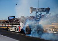 Jul 28, 2017; Sonoma, CA, USA; NHRA top fuel driver Antron Brown during qualifying for the Sonoma Nationals at Sonoma Raceway. Mandatory Credit: Mark J. Rebilas-USA TODAY Sports