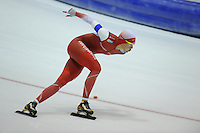 SCHAATSEN: HEERENVEEN: 25-10-2014, IJsstadion Thialf, Trainingswedstrijd schaatsen, Marrit Leenstra, ©foto Martin de Jong